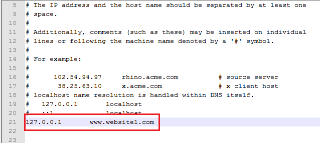 multisite configuration add hostname