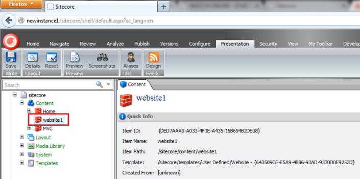 multisite configuration content editor