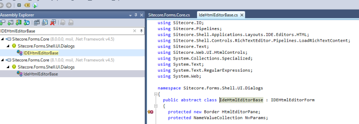 Sitecore.Forms.Core.dll IDEHtmlEditorBase