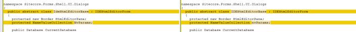 Sitecore.Forms.Core IdeHtmlEditorBase code change#1