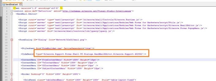 Sitecore - SendEmail.xml override file.JPG