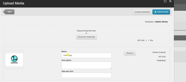 Sitecore Upload an image via Image upload dialog box