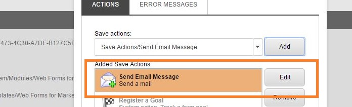 Sitecore WFFM - Edit the Send Email message save action