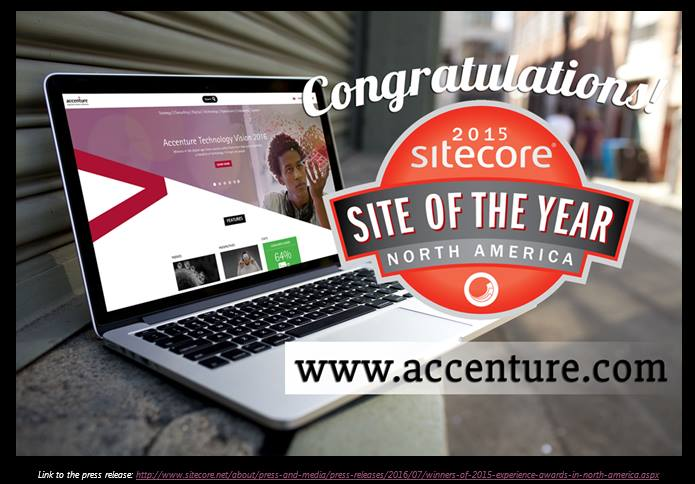 Accenture.com Site of the year award 2015