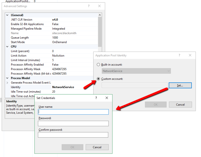 How_to_create_a_custom_application_pool_identity_in_IIS_using_windows_DOMAINUser